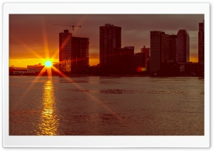 New York Sunrise HD Wide Wallpaper for 4K UHD Widescreen desktop & smartphone