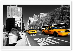 New York Taxi Ultra HD Wallpaper for 4K UHD Widescreen desktop, tablet & smartphone