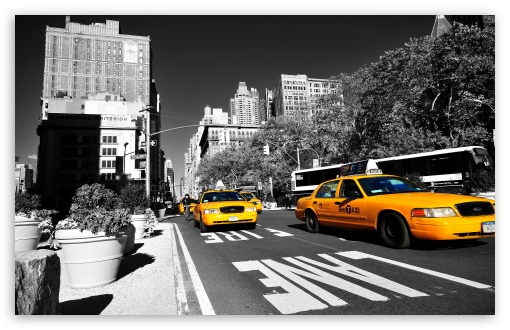 New York Taxi 4k Hd Desktop Wallpaper For 4k Ultra Hd Tv