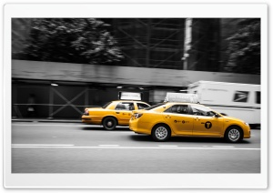 New York Taxi HD Wide Wallpaper for 4K UHD Widescreen desktop & smartphone