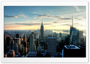 New York View HD Wide Wallpaper for 4K UHD Widescreen desktop & smartphone