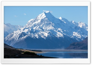 New Zealand Mount Cook Aoraki National Park Landscape HD Wide Wallpaper for Widescreen