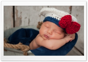 Newborn Baby Sailor HD Wide Wallpaper for 4K UHD Widescreen desktop & smartphone