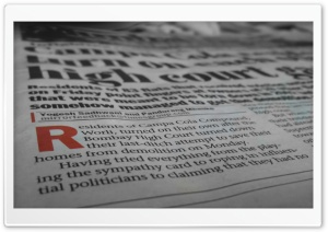 Newspaper HD Wide Wallpaper for Widescreen