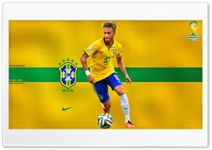 NEYMAR BRAZIL WORLD CUP 2014 HD Wide Wallpaper for Widescreen