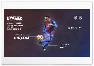 Neymar da Silva Santos Junior HD Wide Wallpaper for Widescreen