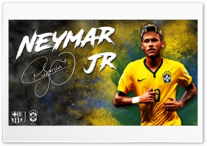 Neymar Jr. Barcelona Brazil HD Wide Wallpaper for Widescreen