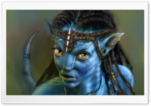 Neytiri Avatar Movie HD Wide Wallpaper for Widescreen