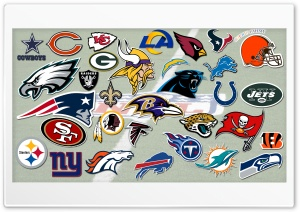 NFL Teams Logos Ultra HD Wallpaper for 4K UHD Widescreen desktop, tablet & smartphone