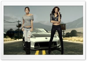 NFS The Run   Irina Shayk and Chrissy Teigen HD Wide Wallpaper for Widescreen