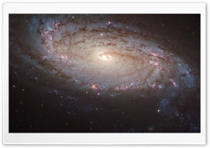 NGC 5806 a Barred Spiral Galaxy HD Wide Wallpaper for 4K UHD Widescreen desktop & smartphone