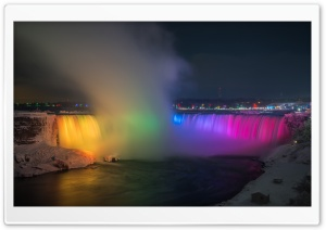 Niagara Falls At Night HD Wide Wallpaper for Widescreen