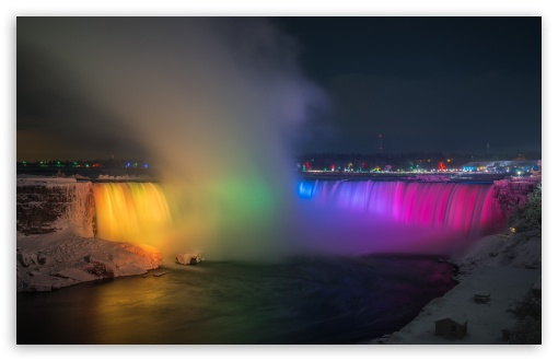 Download Niagara Falls At Night HD Wallpaper