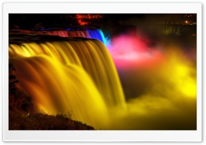 Niagara Falls Night View HD Wide Wallpaper for 4K UHD Widescreen desktop & smartphone