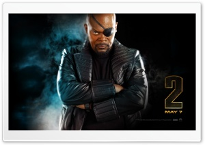 Nick Fury, Iron Man 2 HD Wide Wallpaper for Widescreen