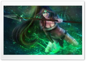 Nidalee the Bestial Huntress - League of Legends HD Wide Wallpaper for Widescreen