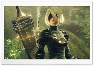 Nier Automata 2B HD Wide Wallpaper for Widescreen