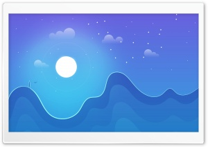 Night Background Cartoon HD Wide Wallpaper for 4K UHD Widescreen desktop & smartphone