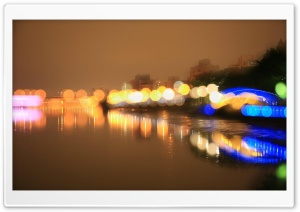 Night Bokeh HD Wide Wallpaper for Widescreen