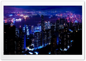 Night City HD Wide Wallpaper for 4K UHD Widescreen desktop & smartphone