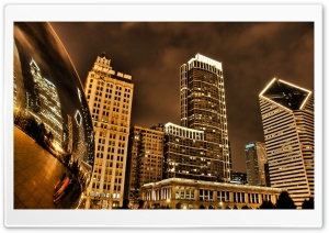 Night City HDR HD Wide Wallpaper for Widescreen