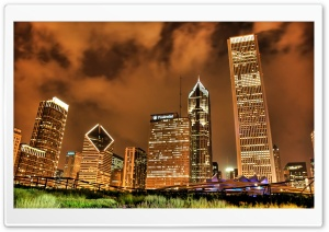 Night City HDR 1 HD Wide Wallpaper for Widescreen