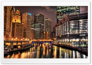 Night City HDR 2 HD Wide Wallpaper for Widescreen