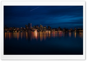 Night City Lights HD Wide Wallpaper for Widescreen