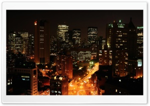 Night Cityscapes HD Wide Wallpaper for Widescreen