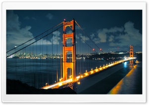 Night Golden Gate Bridge HD Wide Wallpaper for 4K UHD Widescreen desktop & smartphone