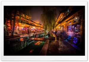 Night In Lijiang HD Wide Wallpaper for Widescreen