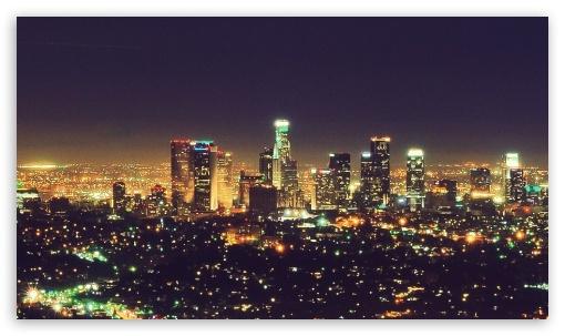 City Night Los Angeles Lights Nightlife Life 4k Hd Desktop