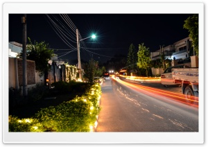 Night Light Trails HD Wide Wallpaper for Widescreen