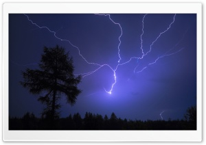 Night Lightning HD Wide Wallpaper for Widescreen