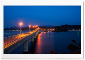 Night Long Bridge HD Wide Wallpaper for 4K UHD Widescreen desktop & smartphone