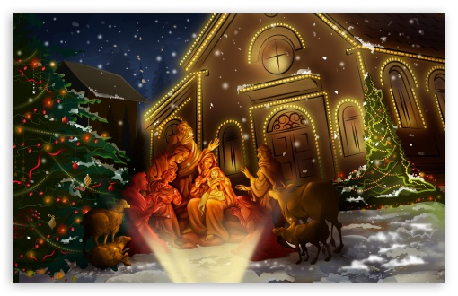 Night Of Jesus Birth HD wallpaper for Wide 16:10 5:3 Widescreen WHXGA WQXGA WUXGA WXGA WGA ; HD 16:9 High Definition WQHD QWXGA 1080p 900p 720p QHD nHD ; Standard 3:2 Fullscreen DVGA HVGA HQVGA devices ( Apple PowerBook G4 iPhone 4 3G 3GS iPod Touch ) ; Mobile 5:3 3:2 16:9 - WGA DVGA HVGA HQVGA devices ( Apple PowerBook G4 iPhone 4 3G 3GS iPod Touch ) WQHD QWXGA 1080p 900p 720p QHD nHD ;