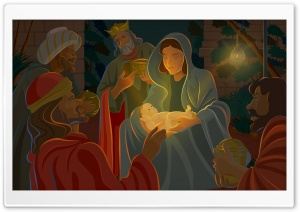 Night Of Jesus Christ Birth HD Wide Wallpaper for 4K UHD Widescreen desktop & smartphone