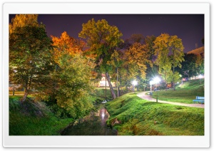 Night Park HD Wide Wallpaper for Widescreen
