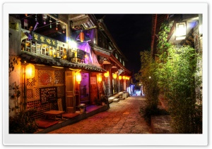 NIght Scene at Lijiang HD Wide Wallpaper for Widescreen