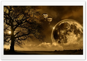 Night Sepia HD Wide Wallpaper for Widescreen