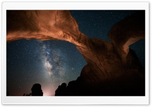 Night Skies In Utah HD Wide Wallpaper for 4K UHD Widescreen desktop & smartphone
