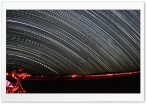 Night Sky Long Exposure HD Wide Wallpaper for Widescreen