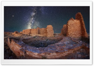 Night Sky, Ruins, Pueblo Pintado, New Mexico Ultra HD Wallpaper for 4K UHD Widescreen desktop, tablet & smartphone