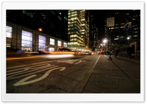Night Time In New York HD Wide Wallpaper for Widescreen