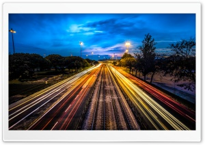 Night Traffic HD Wide Wallpaper for 4K UHD Widescreen desktop & smartphone