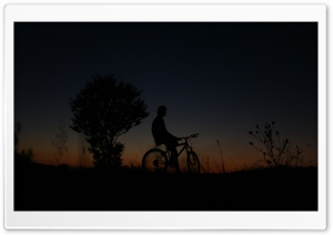 Nightbiker HD Wide Wallpaper for Widescreen