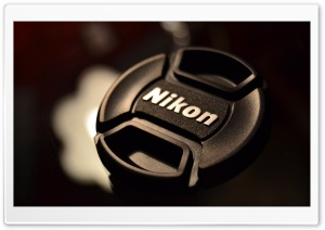 Nikon Lens Cover HD Wide Wallpaper for Widescreen