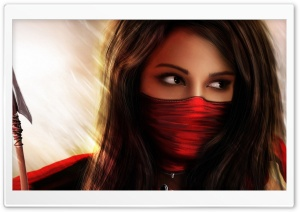 Ninja Girl Fantasy HD Wide Wallpaper for Widescreen