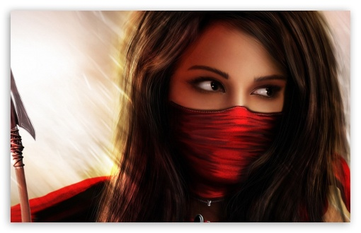 Ninja Girl Fantasy HD wallpaper for Wide 16:10 5:3 Widescreen WHXGA WQXGA WUXGA WXGA WGA ; HD 16:9 High Definition WQHD QWXGA 1080p 900p 720p QHD nHD ; Standard 4:3 5:4 Fullscreen UXGA XGA SVGA QSXGA SXGA ; MS 3:2 DVGA HVGA HQVGA devices ( Apple PowerBook G4 iPhone 4 3G 3GS iPod Touch ) ; Mobile VGA WVGA iPhone iPad PSP Phone - VGA QVGA Smartphone ( PocketPC GPS iPod Zune BlackBerry HTC Samsung LG Nokia Eten Asus ) WVGA WQVGA Smartphone ( HTC Samsung Sony Ericsson LG Vertu MIO ) HVGA Smartphone ( Apple iPhone iPod BlackBerry HTC Samsung Nokia ) Sony PSP Zune HD Zen ; Tablet 1&2 ;