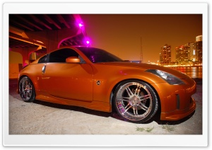 Nissan 350Z Golden HD Wide Wallpaper for Widescreen